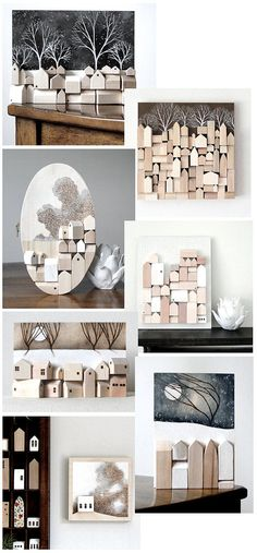 original 3d wood wall art white wood by TheHauntedHollowTree, $45.00