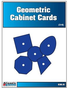 Geometric Cabinet Nomenclature Cards (3-6) (Printed and Laminated)
