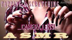 💟 ASMR 🎧 Long natural nails in: TAPPING & SCRATCHING camera LENS! 💤 ↬ so...
