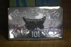 1970's Silver Toned Wagon Belt Buckle  Country by TheOtherGhost, $18.00
