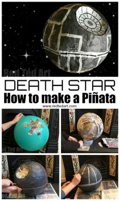 Wars Death Star Pinata Death Star Pinata - how to make a Star Wars Pinata - Star Wars Party Ideas!Death Star Pinata - how to make a Star Wars Pinata - Star Wars Party Ideas! Star Wars Pinata, Death Star Pinata, Star Wars Baby, Star Wars Girls, Star Wars Halloween, Star Wars Party Supplies, Aniversario Star Wars, Star Wars Cake Toppers, Star Wars Crafts