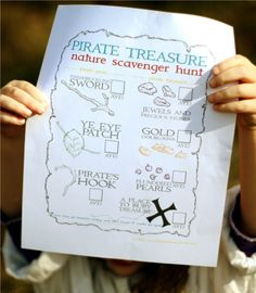 pirate themed nature scavenger hunt