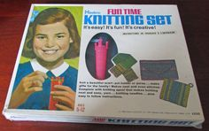 Vintage Hasbro Fun Time Knitting Set Ages by Fraservalleyjewels