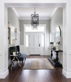 45 Amazing Ideas Small Front Entryway Decor 76 Foyer Furniture Small Couch and Console Table House Of Turquoise Gilmore Design Studio 9 Entrance Foyer, Entry Hallway, House Entrance, Entrance Halls, Grand Entryway, Entryway Stairs, Grand Entrance, Hallway Ideas Entrance Narrow, Small Entrance