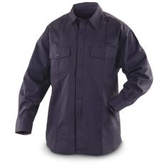 5.11 Tactical Fr-X3 Long-Sleeved Fire-Resistant Station Shirt, Fire Navy - 555221, Tactical Clothing