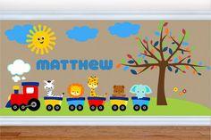 Wall Decals for Kids Nursery - Train Wall Decal - Choo Choo - Premium Quality Repositionable