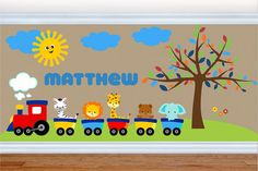 Wall Decals for Kids Nursery - Train Wall Decal - Choo Choo - Premium  Quality Repositionable