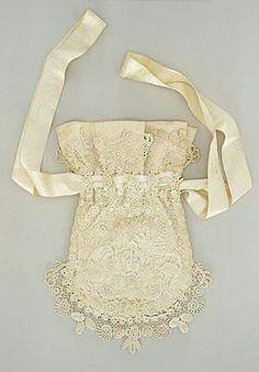 Irish crochet bridal purse