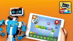 Build, code, and play with the LEGO Boost Creative Toolbox and Arctic Scout Truck bundle. Scout Truck, Visual Programming Language, Robot Kits, Learn To Code, Lego Pieces, Save Yourself, Mobile App, Innovation, Free Apps