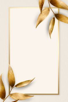 Golden olive leaves with rectangle frame on beige background   premium image by rawpixel.com / Adj Beige Background, Galaxy Wallpaper, Free Illustrations, Royalty Free Photos, Free Design, Design Elements, Backdrops, Cool Designs, Leaves