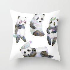 life panda Throw Pillow