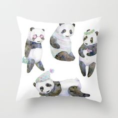 life panda Throw Pillow