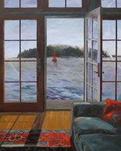 Safe Harbor - Painting by Jerri Finch Window View, Window Art, Open Window, Safe Harbor, Through The Window, Take Me Home, Beach Cottages, Room Paint, Art And Architecture