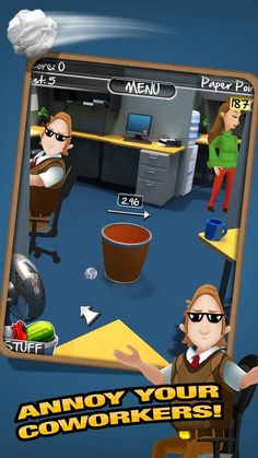 Paper Toss 2.0 - Annoy your coworkers!