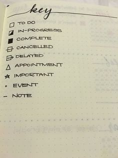 Notebook symbols - keeping organized