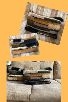 As for the yarn colors; black, cream, grey, brown, mustard etc. Our cushions are just for you, if you like rag and shabby! They are absolutely not modern:) I think it's ideal also for farmhouse, shabby, hippie, bohemian, country, cottage, eclectic and rustic houses... Wash cold and by hand, please -Buy from Etsy- knit pillow cover / knit pillow pattern / crochet cushion cover / crochet cushions #crochetpillow #crochetpillowpattern #handknit #etsyknit #winterknitting #winterholidays Crochet Cushion Cover, Crochet Pillow Pattern, Crochet Cushions, Knit Pillow, Cushion Covers, Pillow Covers, Crochet Patterns, New Home Presents, New Home Gifts