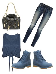 """""""Timber"""" by mag11rich on Polyvore featuring Timberland, rag & bone, Alice + Olivia and Moschino"""