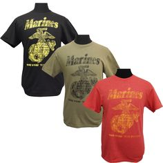 """""""The Few The Proud"""" Classic Marines T-Shirt - Activewear - Men's - Clothing & Jewelry 