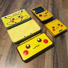 The Pikachu versions of the gameboys and Ds's are all so cool 🤓 do you own any of these? Gameboy Pokemon, Pikachu Raichu, Nintendo Ds, Old Game Consoles, Nintendo Consoles, Pokemon Movies, Pokemon Games, Pokemon Game Boy Advance, Nintendo Switch Accessories