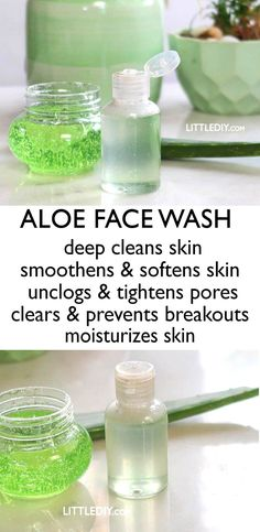 ALOE VERA FACE WASH – LITTLE DIY Facial cleansing is a part of our daily skin care routine. We cleanse our face almost times a day with facial cleansers that contain SLS and other unwa Homemade Skin Care, Diy Skin Care, Facial Skin Care, Natural Skin Care, Skin Care Tips, Natural Beauty, Face Facial, Facial Wash, Facial Toner