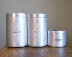 Vintage Canisters.  I have the tea one.