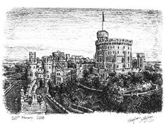 Windsor Castle - drawings and paintings by Stephen Wiltshire MBE