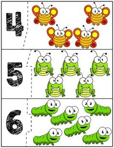 Teach counting skills with Spring Bugs! Great for teaching counting skills and number recognition for numbers Quick prep game great for math centers! Toddler Learning Activities, Autism Activities, Teaching Kids, Preschool Centers, Math Centers, Preschool Activities, Math For Kids, Fun Crafts For Kids, Diy Straw