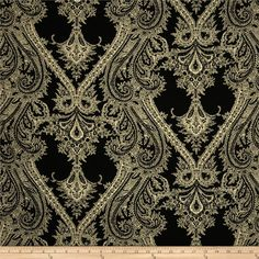 Portland Challis Ornate Black/Tan from @fabricdotcom  This polyester fabric has a beautiful fluid drape and soft hand. It is perfect for creating shirts, blouses, gathered skirts and flowing dresses with a lining. Colors include black and cream.