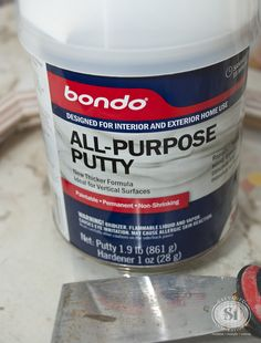 Repair Wood Furniture Using Bondo Filler Today we are going to