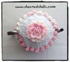Crochet Rose Bud Tea Cozy - Dearest Debi Patterns