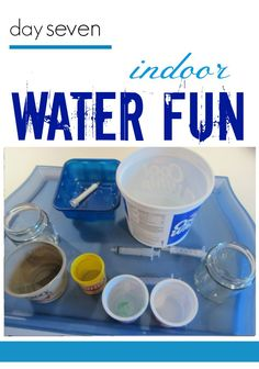 Indoor water fun activity for kids! This is part of my series of summer tabletop surprises for kids. Even big kids like to play with water, so you can't go wrong with a great indoor activity all the kids will love! Add this to your list of rainy day activities for the kids! #teachmama #rainyday #activities #kidfun #activitiesforkids #tabletopgames #games #creative #indoor