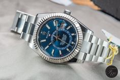 The New Stainless Steel Rolex Sky-Dweller Reference 326934 Impressed Me Luxury Watches, Rolex Watches, Watches For Men, Sky Dweller, Stainless Steel Rolex, Swiss Made Watches, Rolex Daytona, Omega Watch, Bag Accessories