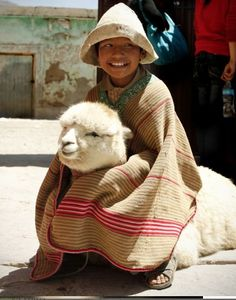 A boy and his Alpaca.