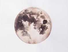 moon print by Stella Maria Baer Watercolor Paper, Watercolor Paintings, Original Paintings, Art And Illustration, Moon Print, Bellini, Art Drawings, Colorful Drawings, Art Photography