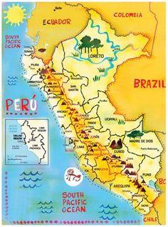 Illustrated Map Perú | Travel Peru List | Pinterest | Illustrated ...