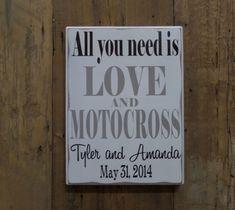 Alles was Sie brauchen ist Liebe und MOTOCROSS von CSSDesign
