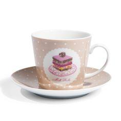 Coffret tasses et soucoupes thé Cupcake