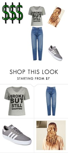 """""""shopping"""" by sladams3 ❤ liked on Polyvore featuring Yves Saint Laurent, adidas and Hershesons"""