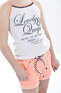 Mila-Peach Mooie korten broek in de kleur peach van het merk Quapi Kidswear www.lotenlynn.nl Zomer collectie 2014