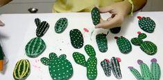 Cómo hacer cactus con piedras                                                                                                                                                                                 Más