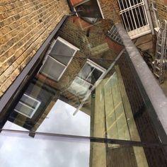Lightwell & Lean-to Roofs · 1st Folding Sliding Doors Flat Roof Skylights, Door Alternatives, Frameless Glass Balustrade, Lean To Roof, Side Extension, Window Glazing, Roof Lantern, House Extension Design, Roof Light