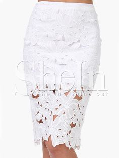 Shop White Crochet Pencil Skirt online. SheIn offers White Crochet Pencil Skirt & more to fit your fashionable needs.