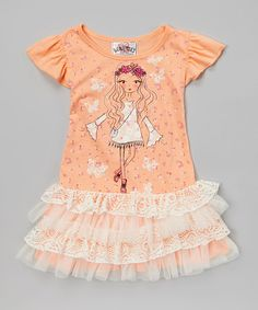 Love this Creamiscle Hippie Girl Tutu Dress by Beautees on #zulily! #zulilyfinds