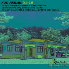 Pelan rumah bentuk u My House Plans, House Layouts, How To Plan, House Styles, Free, House Floor Plans
