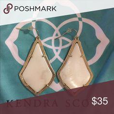 Kendra Scott Alexandra earrings Pearl with gold frame Kendra Scott Jewelry Earrings