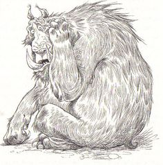 The Edge Chronicles- Chris Riddell. The Banderbear, my favorite character (aside from Twig) in the book.