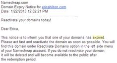 Be Sure to Check Your Domain!