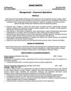 insurance manager resume examples pinterest resume examples