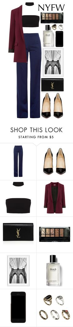 """""""What to Pack: NYFW"""" by aguniaaa ❤ liked on Polyvore featuring Altuzarra, Christian Louboutin, Yves Saint Laurent, Boohoo, Bobbi Brown Cosmetics, Dolce&Gabbana, ASOS, NYFW, polyvoreeditorial and polyvorecontest"""