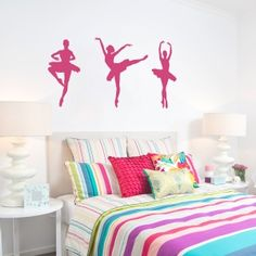 Whether you're a football enthusiast or a ballerina, Wallums offers a number of sport and athletic themed wall decals. Modern Wall Decals, Sports Wall Decals, Wall Decal Sticker, Wall Stickers, Ballerina Nursery, The Dancer, Studio Organization, Little Girl Rooms, Nursery Themes